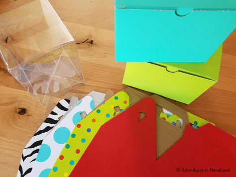 Cardboard and plastic gift-giving boxes for LEGO - Legos for cheap - Adventures in NanaLand