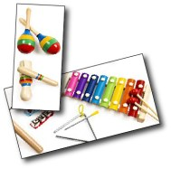 Colorful musical instruments for kids