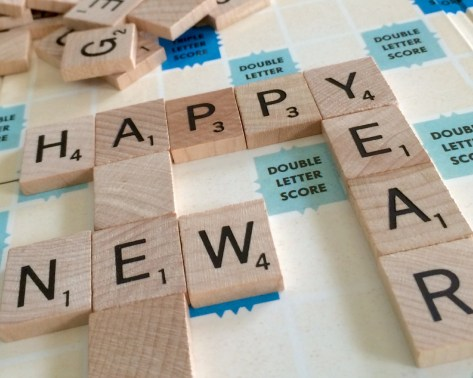 Scrabbles tiles spelling out Happy New Year - Adventures in NanaLand, The secret to keeping your New Year's Resolutions