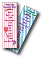 Valentine Scavenger Hunt Lists in Pink and Blue - Valentine's Ideas for Kids - Adventures in NanaLand