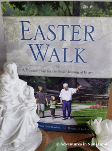 Easter walk book cover - Easter traditions for families - Adventures in NanaLand
