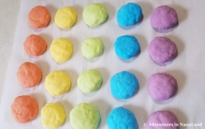 Rainbow rocks, orange, yellow, green, blue, purple - Adventures in NanaLand