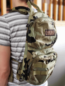 Camelbak backpack on man's back - Planning a Trip to Disneyland - Adventures in NanaLand
