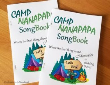 Grandma Camp Songbooks - Grandma Camp Tips - Adventures in NanaLand
