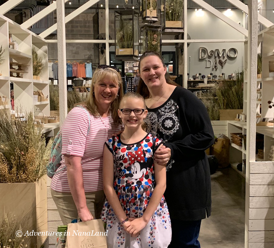 A mom, daughter and granddaughter at Magnolias in Waco, TX - Gardening with kids - Adventures in NanaLand