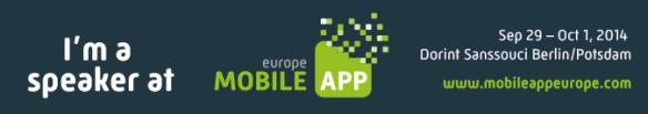 Speaker @ Mobile App Europe