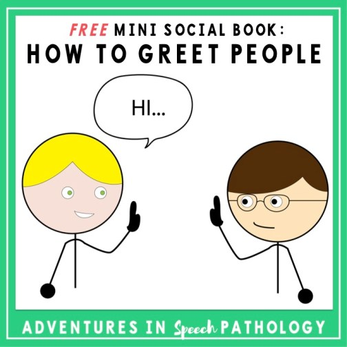 Mini social book how to greet people freebie i have been working on greetings a lot lately particularly because it is a skill that starts an interaction and can hopefully keep it going m4hsunfo