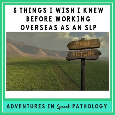 5 Things I wish I knew before working overseas as an SLP