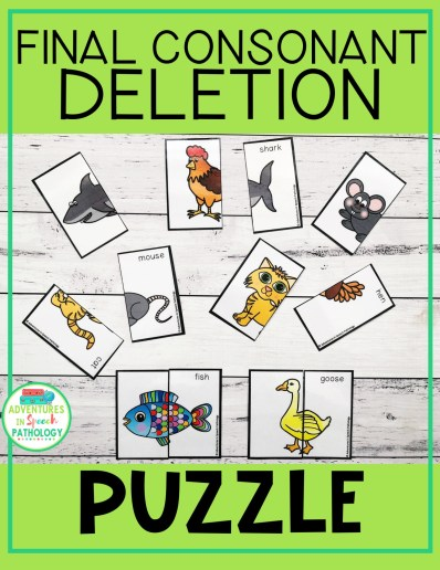Puzzles for final consonant deletion