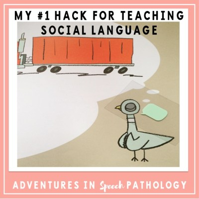 My #1 Easy Hack for Teaching Social Language