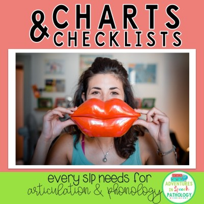 Charts & Checklists EVERY SLP needs to use for Articulation & Phonology