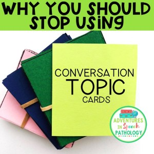 Stop Using Conversation Cards