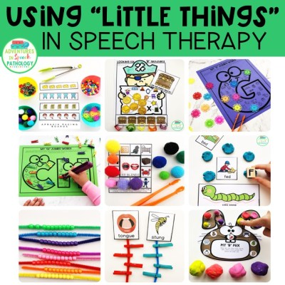 "Using ""Little Things"" in Speech Therapy"