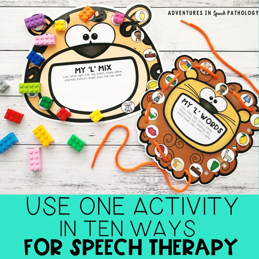 Use one activity in ten ways for speech therapy