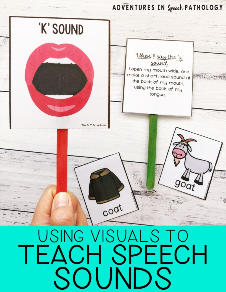 using visuals to teach speech sounds