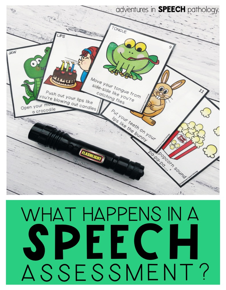 What happens in a speech assessment