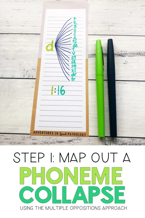 Map out a phoneme collapse for multiple oppositions