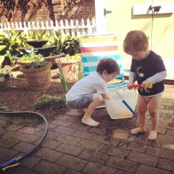nothing better than a garden hose and a bucket