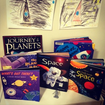 Solar System books + drawings