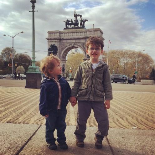 Brother love in Prospect Park