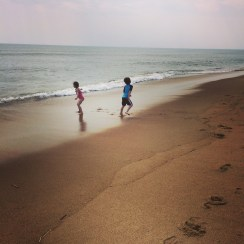 running from the tide