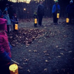 Gathering with our friends and lanterns