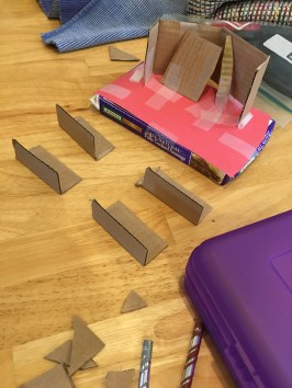 Cardboard stage