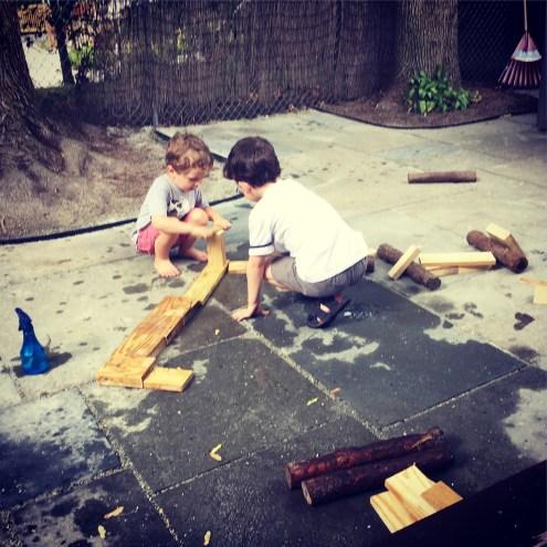Outdoor building blocks