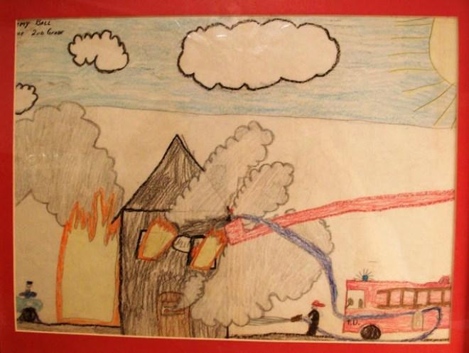 2nd grad Fire Prevention contest winner