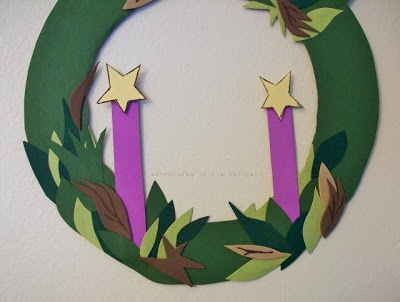A Simple Advent Wreath!  If You're Five or 90, This is For You!