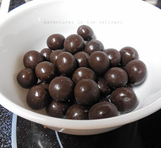 dark malted milk balls