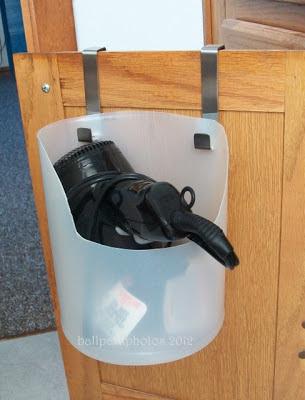 DIY hair dryer holder