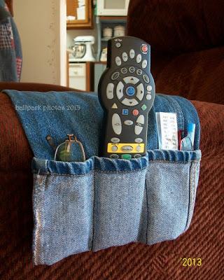 DIY arm chair caddy