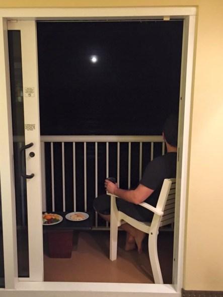 moon on balcony