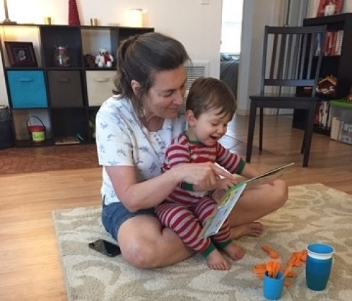 Nana reads to James
