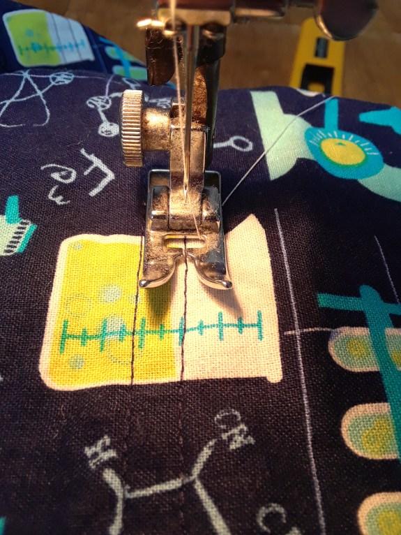 top stitched cuff