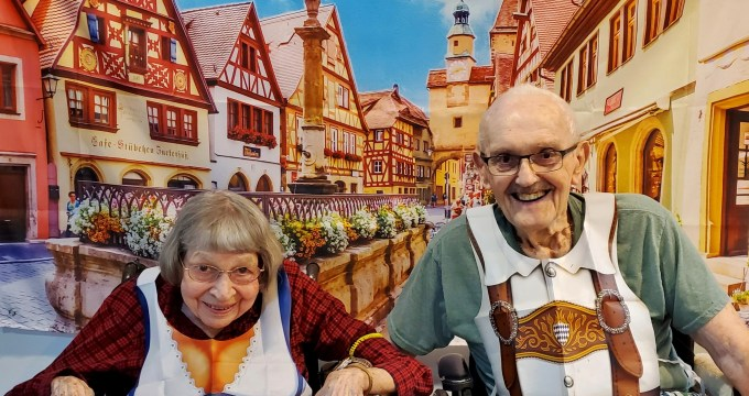 "The folks ""visit"" Germany"