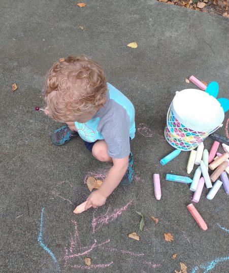 Luke and chalk