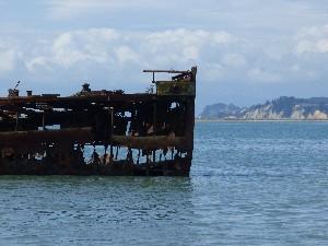 A shipwreck at Motueka.