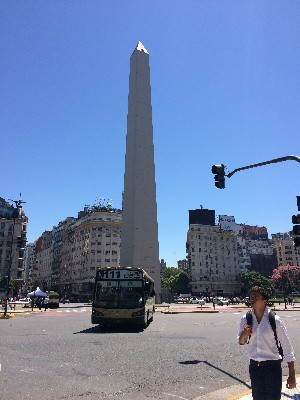 The obelisk at Plaza de la República