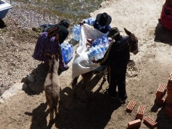 Everything is transported by donkey here, food is very expensive here.