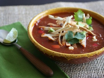 Tortilla Soup and a Food Styling Workshop