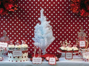 Coconut Cupcakes and a Christmas Dessert Buffet