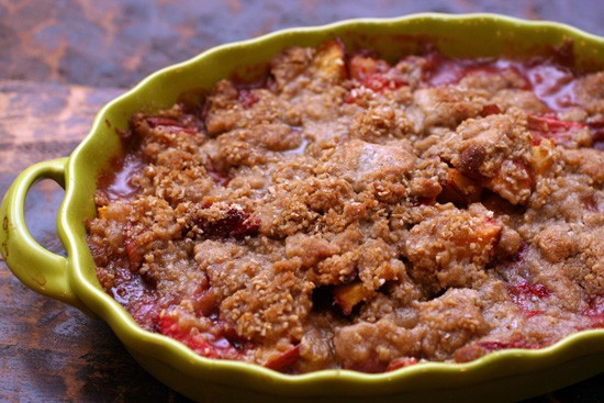 Strawberry Nectarine Crumble