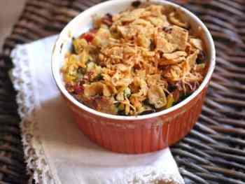 Southwestern Corn and Bacon Stuffing