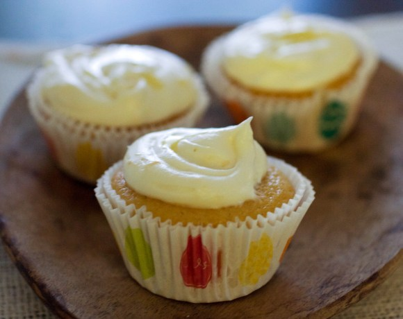 Honey Grapefruit Cupcakes with Honey Buttercream Frosting