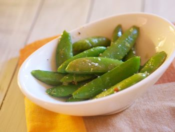 Roasted Snap Peas for One