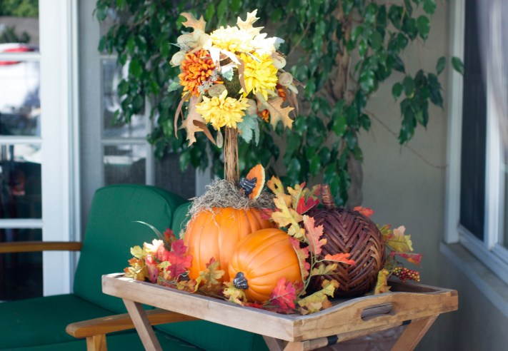 13 diy pumpkin topiary