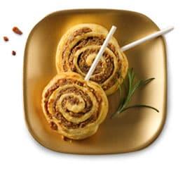 bacon date almond pinwheels
