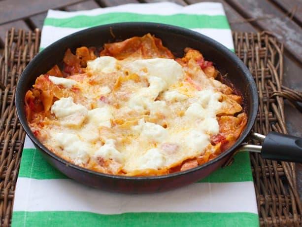 skillet buffalo chicken lasagna